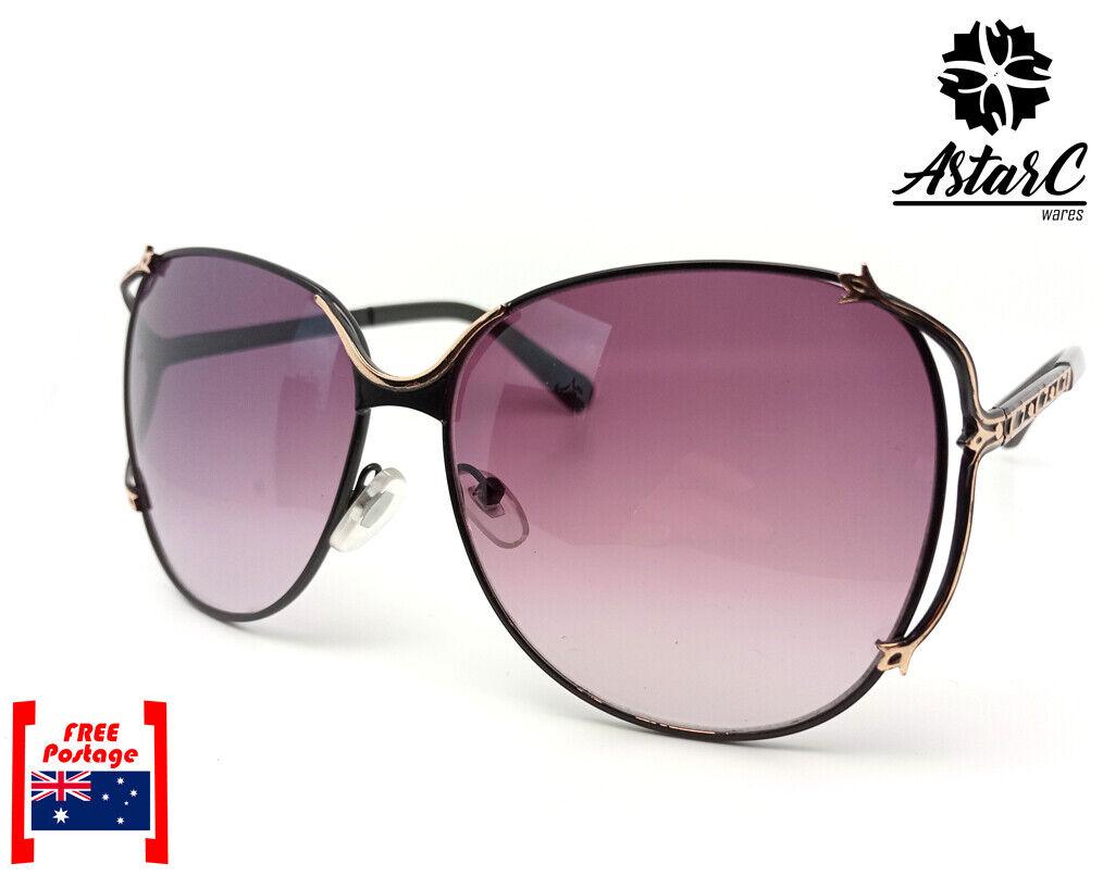 Black Butterfly Oversized MetalC Polarised Sunglasses Women - AstarC Wares