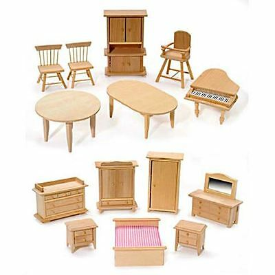 "Miniature Dollhouse FAIRY GARDEN Furniture ~ ¼/"" Micro Mini 9 Piece Kitchen Set"