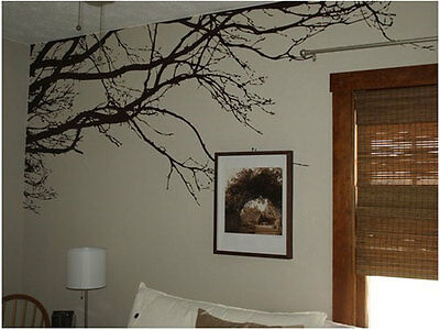 Black Branches Tree Pattern Vinyl Wall Sticker Decoration For Home Living Room