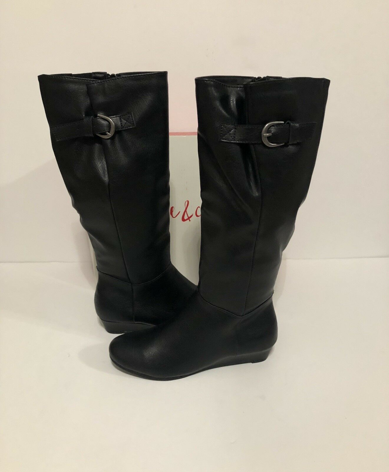 Style & Co Rainne Wedge Riding Boots Black Size 8M MSRP  69.50