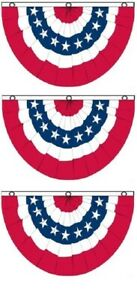3-Pack-3x5-USA-American-America-U-S-Bunting-Fan-Flag-Banner-Grommets-5x3