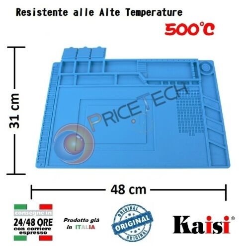 with Magnetic areas Silicone Heat Mat for Welding Kaisi 48 x 31cm