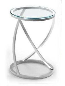 Stella-550x350-Brushed-Stainless-Steel-Clear-Glass-Side-Table-BRAND-NEW