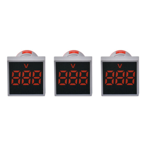 22MM AC 12-500V Voltmeter Square Panel LED Digital Voltage Meter Indicator Light