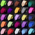 Men Fashion Color Solid Color Plain Jacquard Classic Skinny Slim Tie Necktie