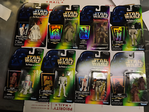 Lot of Star Wars Power Of The Force, POF, Eight Star Wars Figures.