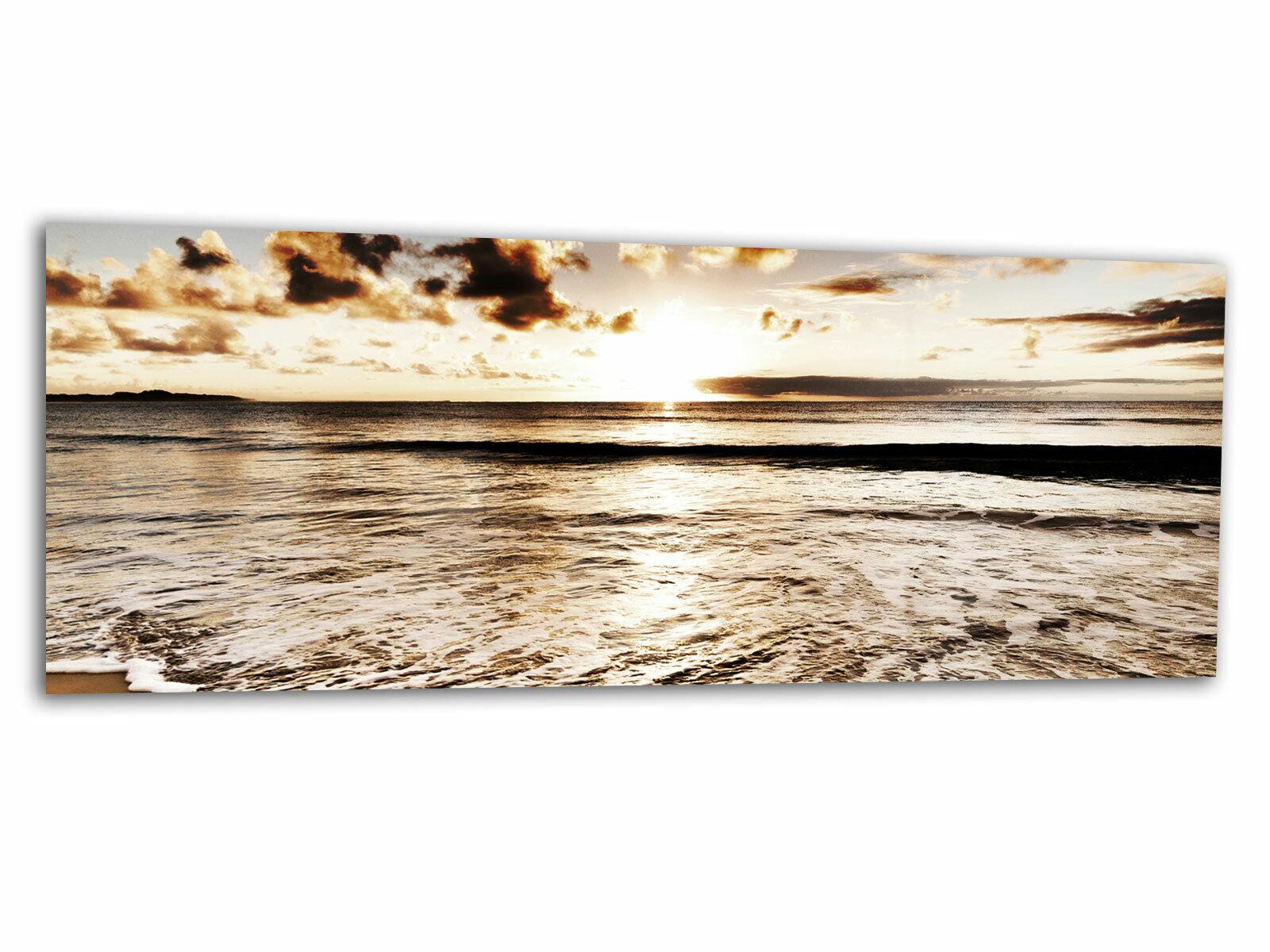 Glas-Bild Wandbild LANDSCHAFT MEER II AG-01135 125 x 50cm