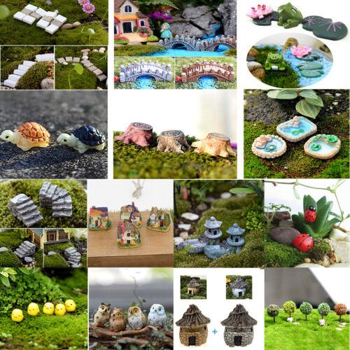 50pcs Outdoor Mini Landscape Dollhouse Decor Cute Fairy Garden Ladybug Figurine