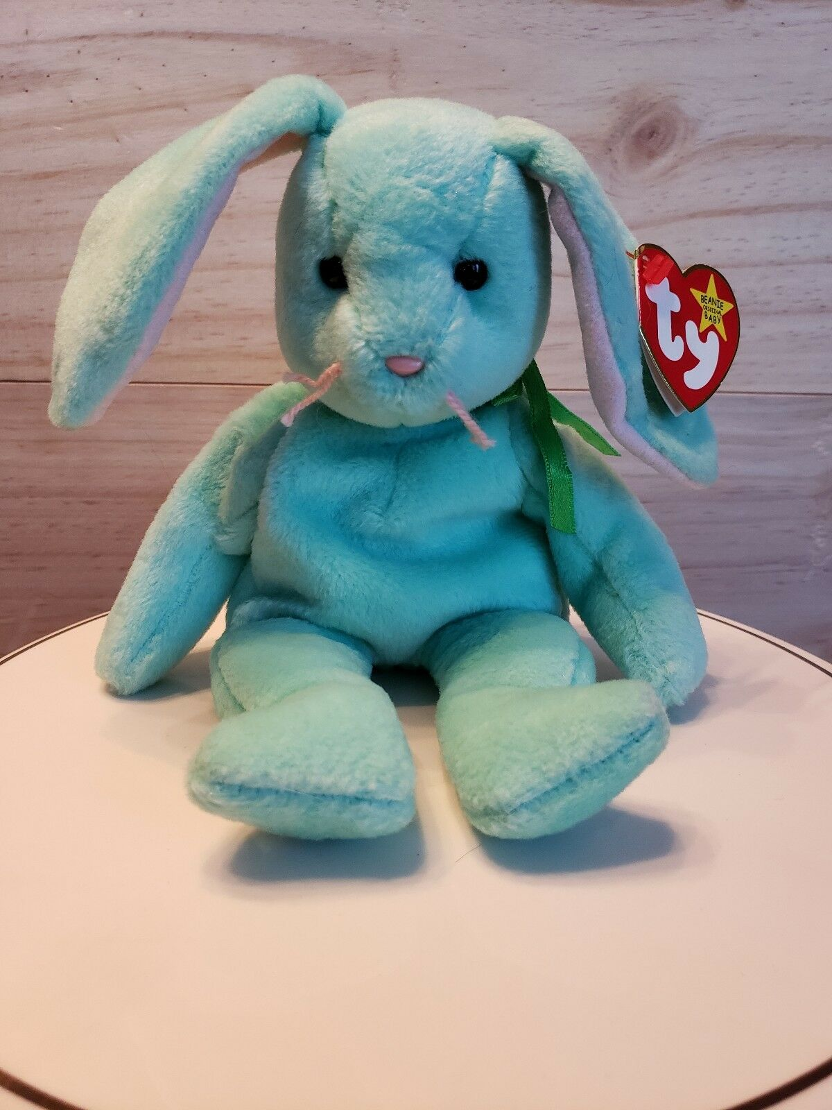 Ty Beanie Baby Hippity The Bunny 1996 Retired  Tag errors