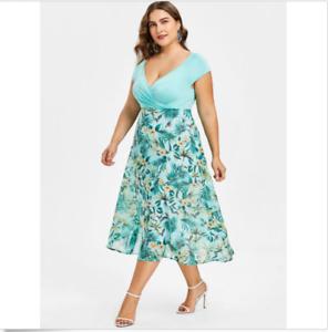 Details About Vestidos Floreados Plus Size Ropa De Moda Para Mujer Largos Xl Tallas Grandes