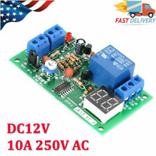 Led Display Countdown Timing Timer Delay Turn Off Relay Switch Module Dc 12v Usa