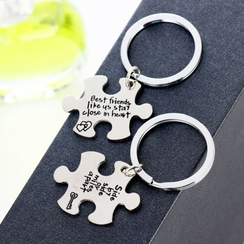 Lover Couple Gifts Puzzle Piece Best Friend Pendant Necklace Stainless Steel