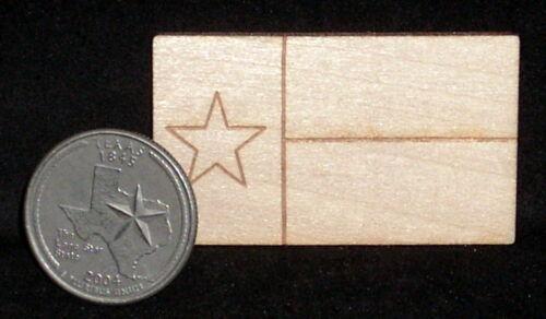 Dollhouse Miniature MD Texas Flag @ 1 1//4 X 2  Wall Wooden Plaque 1:12 Decor