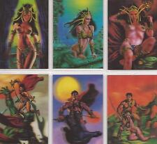"""Warlord of Mars: Preview Set """"3D Lenticular"""" 6 Card Chase Set WD1-6"""