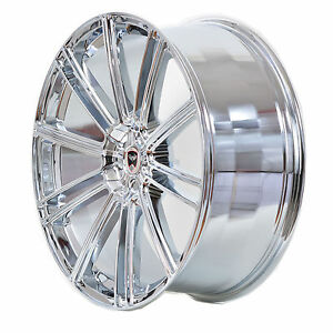 4 GWG Wheels 20 inch Chrome FLOW Rims fits 5x120 ET38 CADILLAC CTS