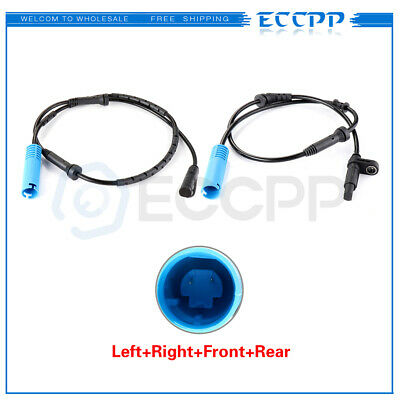 2x Set Fits Mini Cooper 2002-2008 ABS Wheel Speed Sensor Front Rear Left Right