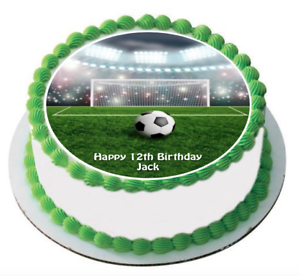 Outstanding 7 Round Soccer Themed Edible Cake Topper Icing Image Ball Game Funny Birthday Cards Online Aboleapandamsfinfo