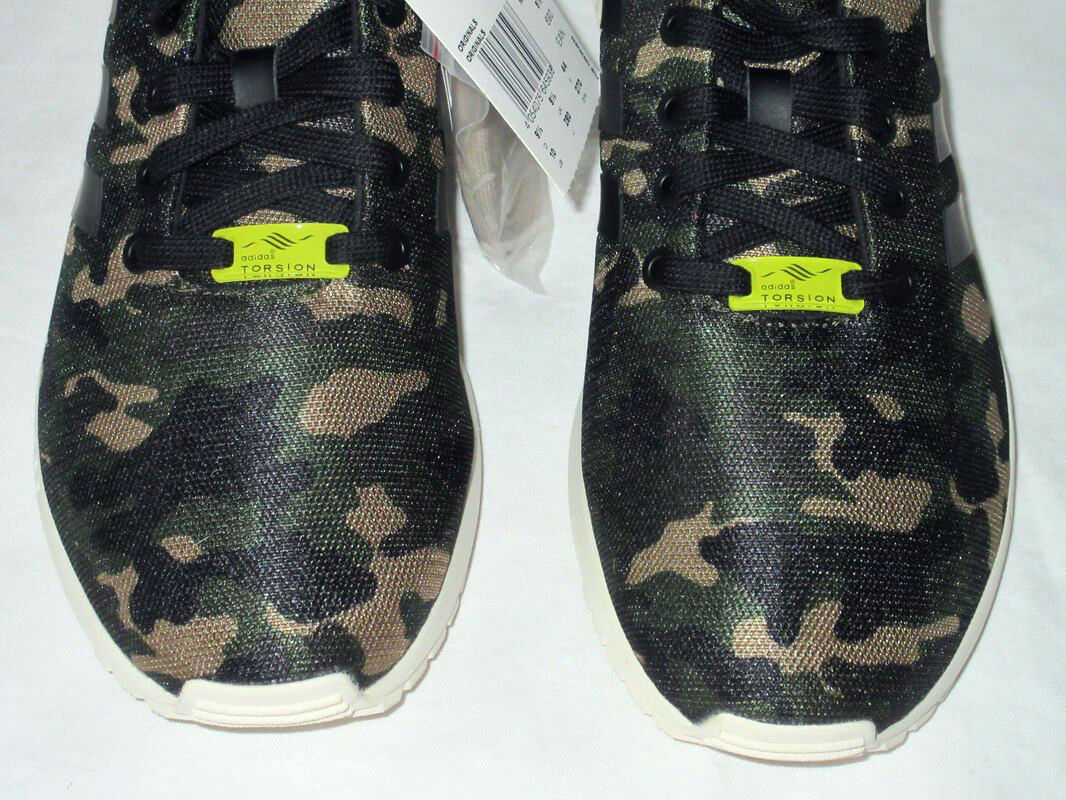 NEUADIDAS FLUX CAMO CASUAL CASUAL CASUAL ZX TORSION CAMOUFLAGE EQUIPMENTARMEEGR 44NEW 033b0b