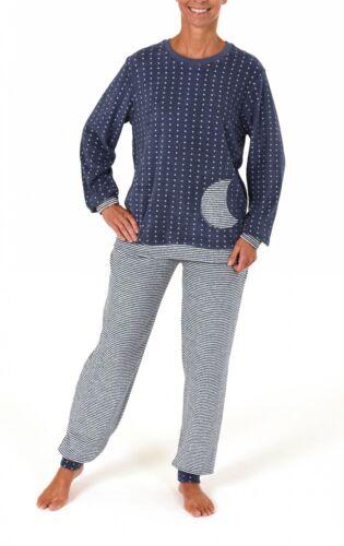 auch in Übergrössen  bis 60//62 Damen Frottee Pyjama lang mit Bündchen