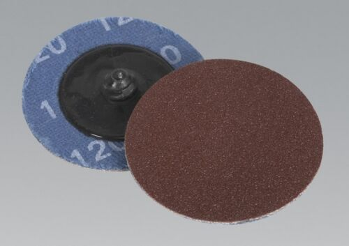Sealey PTCQC50120 Quick Change Sanding Disc 50mm 120Grit Pack Of 10 Tool