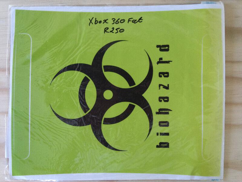 Xbox360 Fat Biohazard Console Skin