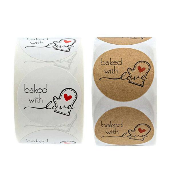 500Pcs Scrapbooking Stickers Round Love Sticker Handmade ...