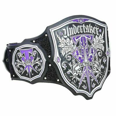 WWE The Phenom Undertaker Champion Replica Leather Title Belt Plates Adult Size