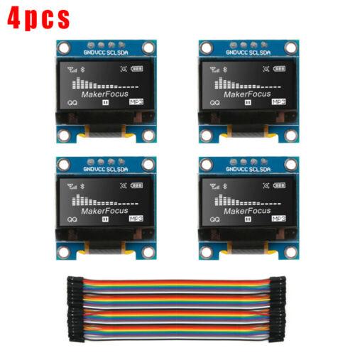 SSD1306 Modul 128 64 LCD Du-Pont-Draht Selbstlicht Weiß 3.3 V 5 V DC