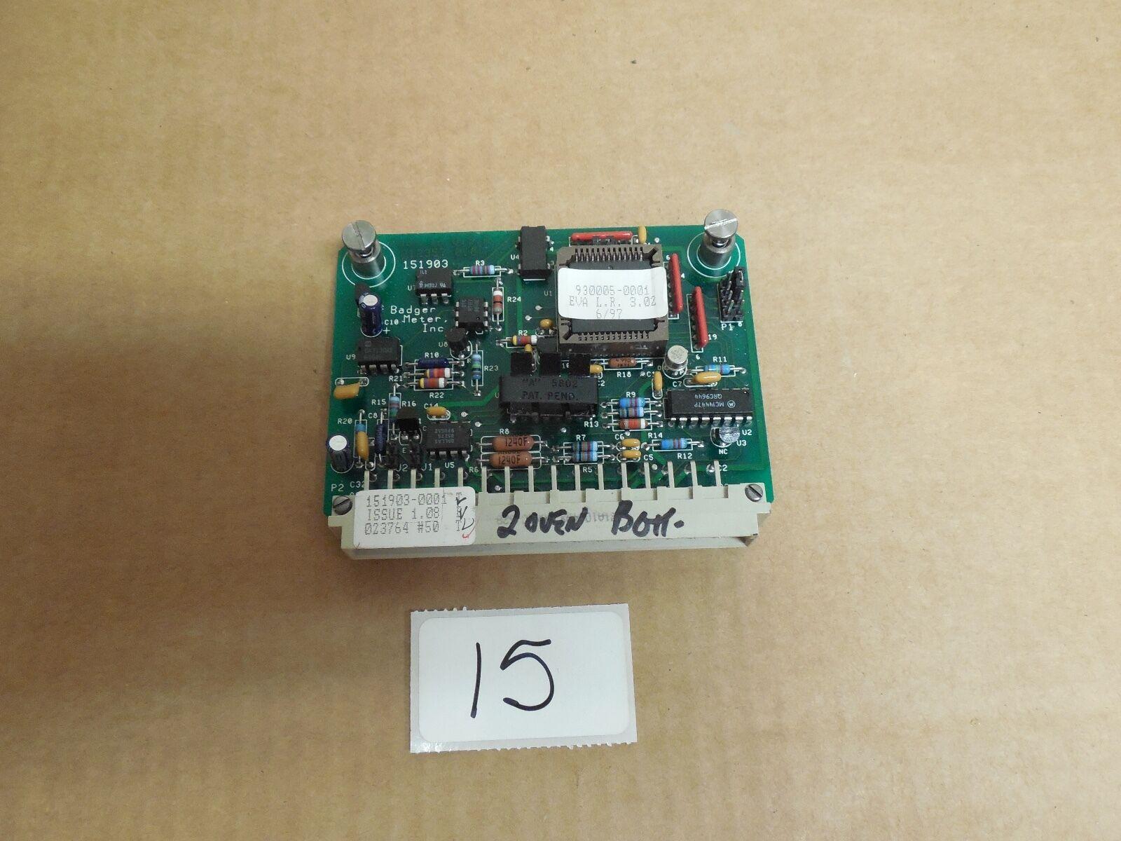 BADGER METER CIRCUIT BOARD CARD 151903-0001 212357 0.8 151903