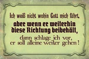 Gottes-Fuehrung-Blechschild-Metallschild-Schild-gewoelbt-Metal-Tin-Sign-20-x-30-cm