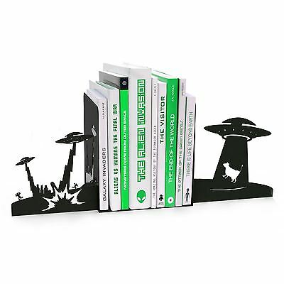 Bedroom Book Ends Monster Alien UFO Invasion Bookend