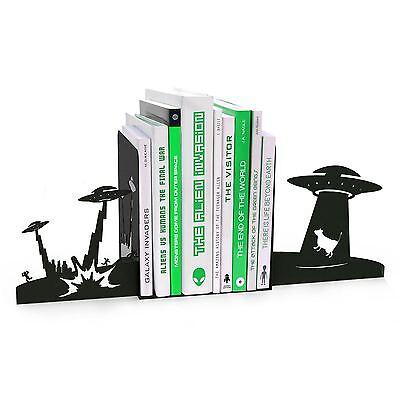 Bedroom Book Ends Monster Alien UFO Invasion Bookend