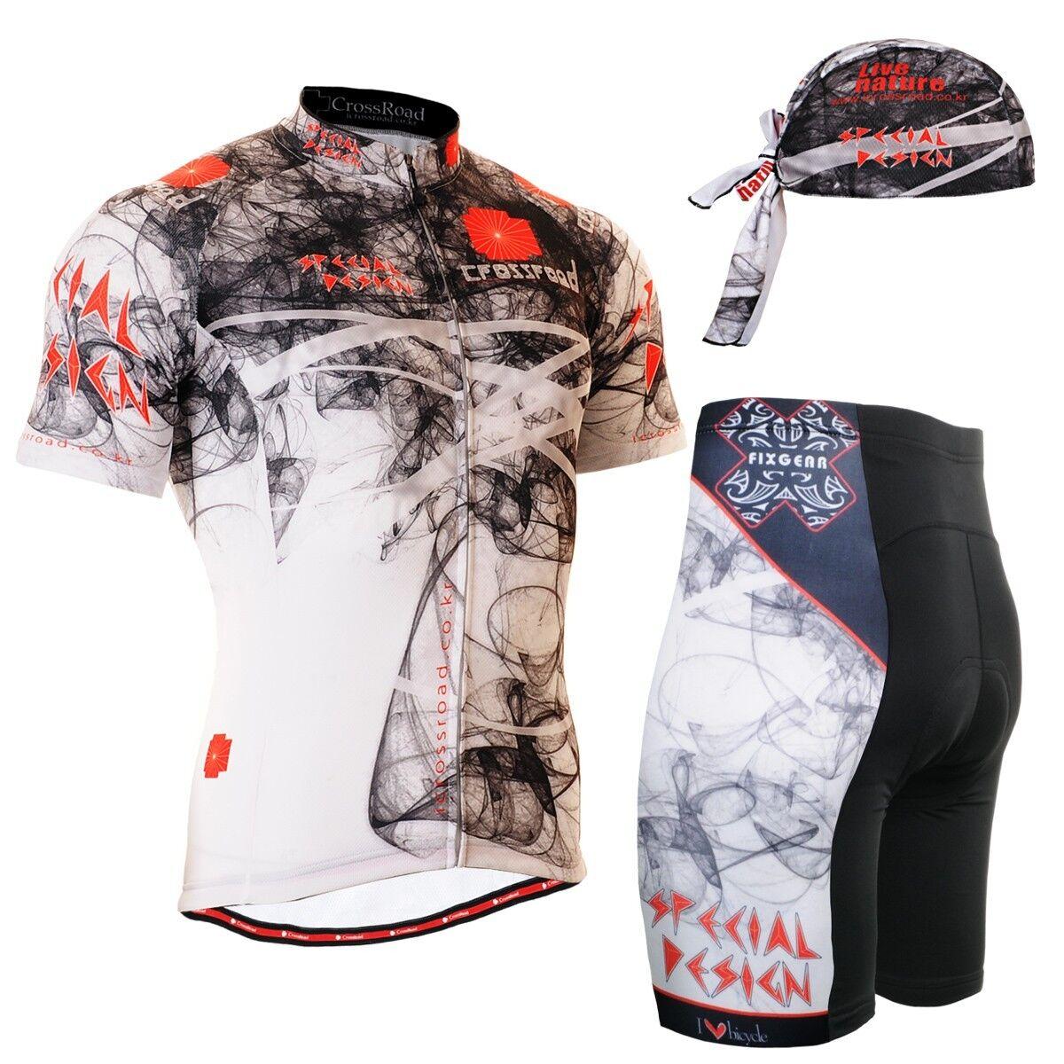 FIXGEAR CS-2102-SET Cycling Jersey & Shorts Padded, MTB Bike, Bandana Bandana Bike, Free Gift cc5659