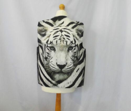 Novelty Gilet Snow Tiger Visage Déguisement Amusant Idée Cadeau Drôle Fête Festival