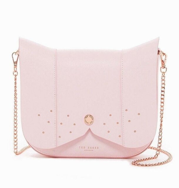 New Ted Baker London Barkley Dog Leather Crossbody Bag Mid Pink 195