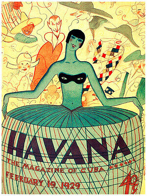 5327.Havana.the magazine of cuba.woman taking pics.POSTER.decor Home Office art