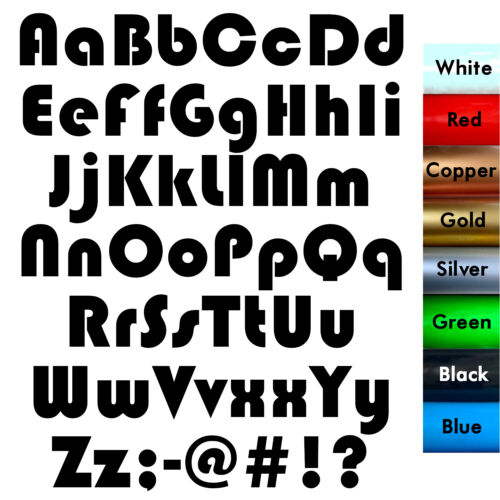 Alphabet Stickers CAPS lower LETTER A to Z Home Wall Craft Car Vinyl Decal 06