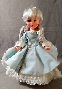 Vintage-FURGA-Doll-Elisabette-Velour-Hoop-Dress-Platimun-Blonde-Italy-1960