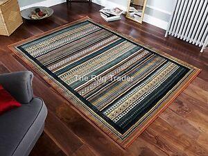 Gabbeh 933R marrón de varios colores TRIBAL Alfombras corredores 5 Tamaños  </span>
