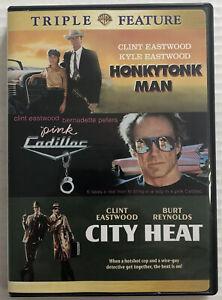 Clint-Eastwood-Triple-Feature-Dvd-Honkytonk-Man-Pink-Cadillac-City-Heat-OOP