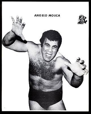 ANGELO MOSCA JR   WRESTLER 8 X 10 WRESTLING PHOTO NWA