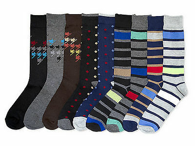 12 Pairs Mens Womens Crew Socks Size 10-13 Assorted Winter Holiday Patterns Lot