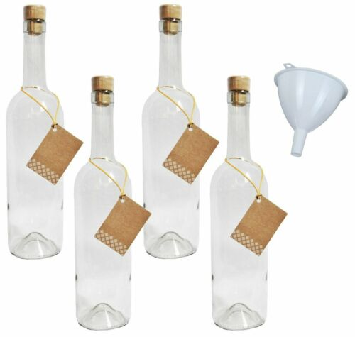 Empty Wine Bottle 0,75 Liter Bottle 750 ML plastic corks pendant funnel