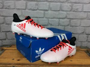 ADIDAS-BOYS-UK-4-EU-36-2-3-X-17-3-FG-WHITE-CORAL-FOOTBALL-BOOTS-CHILDREN