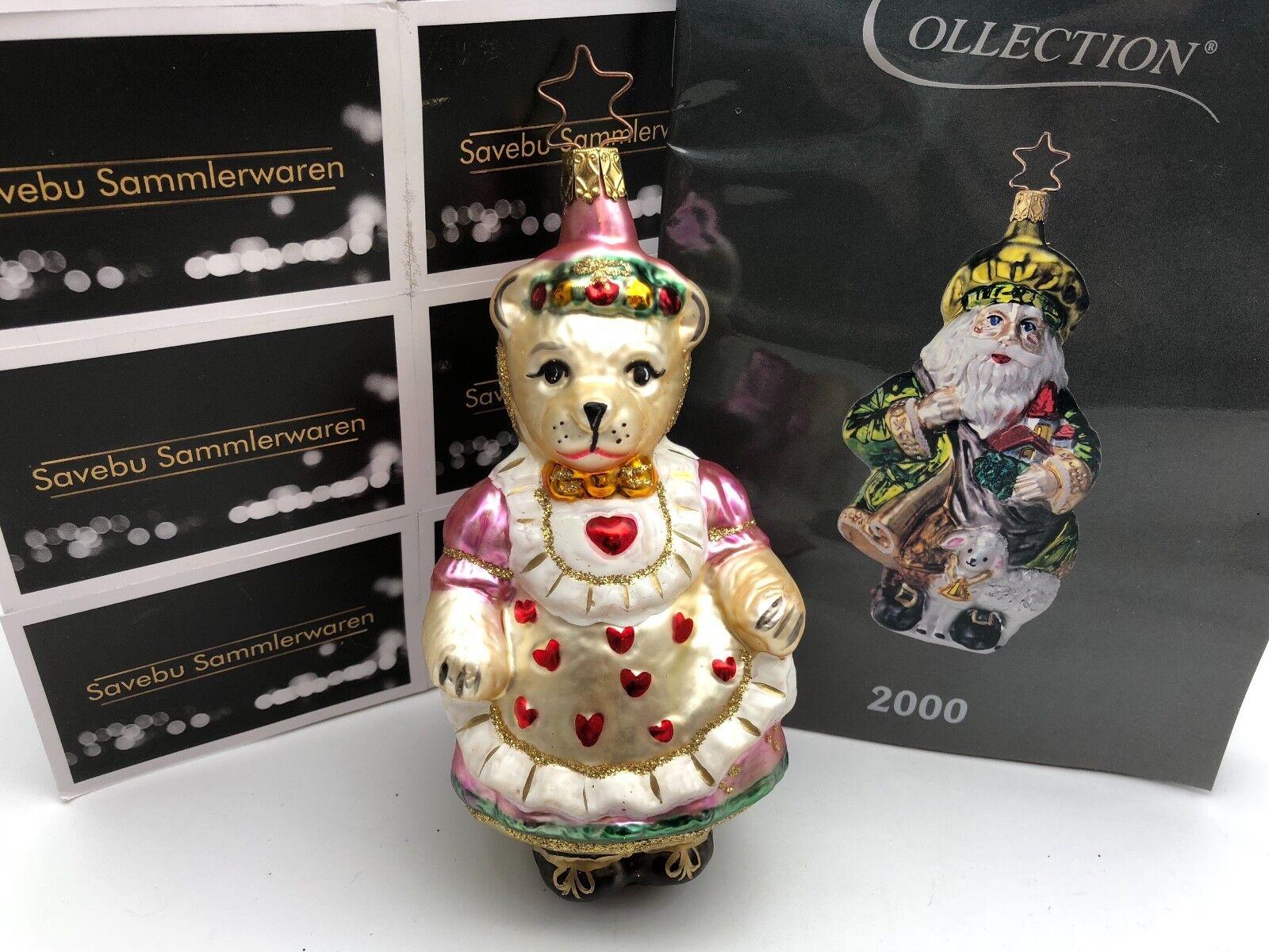 Inge Glas Glas Glas Birgit´s Christmas Collection Mama Bär 15 cm  Limitierte Editi b78771