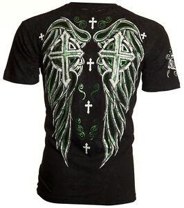 Archaic-AFFLICTION-Men-T-Shirt-FAITH-REGAINED-Cross-Wings-Tattoo-Biker-40