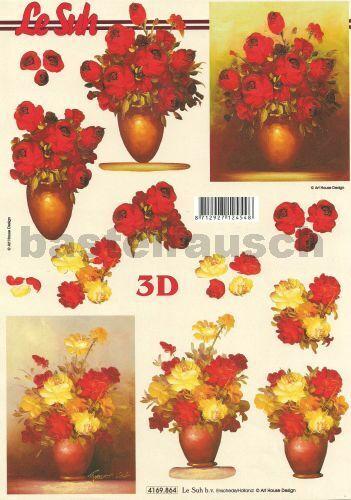 """Blumen /"""" verschiedene zur Auswahl 3D-Bogen von Le Suh /""""Rosen"""