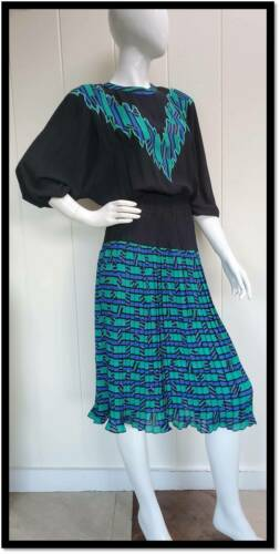 Vintage 80s Diane Freis Dress