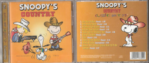 Snoopy/'s Country Classiks On Toys New Rare Cd Album Peanuts Songs Free Shipping