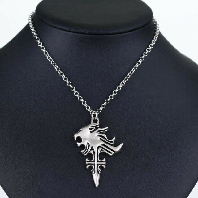Cosplay final fantasy viii 8 griever squall leonhart necklace lion cosplay final fantasy viii 8 griever squall leonhart necklace lion head pendant mozeypictures Image collections
